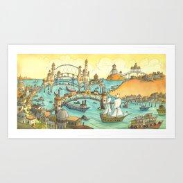 Ship City Art Print