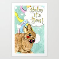 Monsieur Lapin Art Print