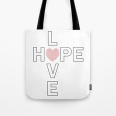 Hope and Love intersect Tote Bag