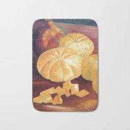 Composition with pumpkins Bath Mat