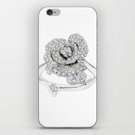 Silver Rose Ring iPhone Skin