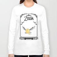 the legend of zelda Long Sleeve T-shirts featuring Zelda legend - Navi by Art & Be
