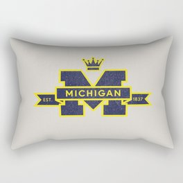 Michigan Block M Retro & Vintage Rectangular Pillow