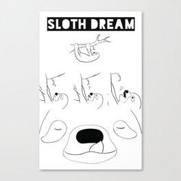 A Sloth Dream 2 Canvas Print