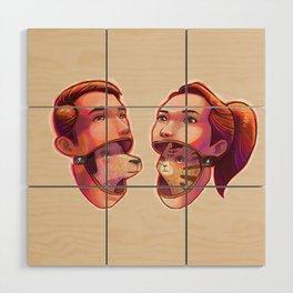 dog people vs cat people Wood Wall Art