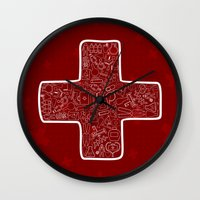 medicine Wall Clocks featuring Medicine by aleksander1