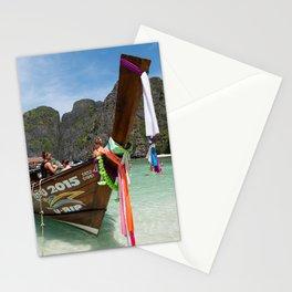 Long Tail Boat, Maya Bay, Ko Phi Phi Lee Island, Thailand Stationery Cards