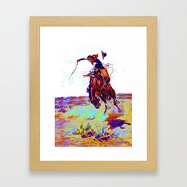 Charles Marion Russel (bad hoss)1904 Framed Art Print