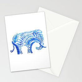 blue elephant watercolor Stationery Cards
