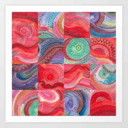 repetitive moments in air Art Print