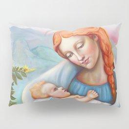 Maria and child. Madonna Pillow Sham