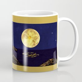 Yellow Dahlia Moon Coffee Mug