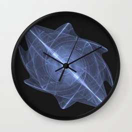 Sacred Energy Crystal of the Throat Chakra Wall Clock