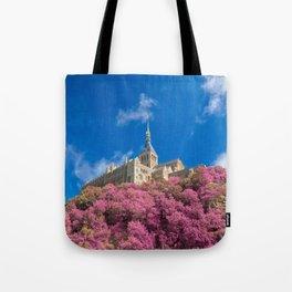 Mont Saint-Michel Abbey - Pink Fantasy Tote Bag