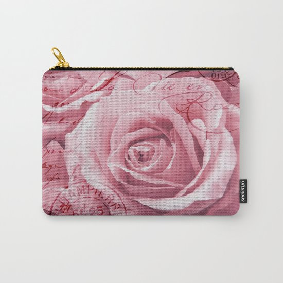 Nostalgic Rose with old handwriting Carry-All Pouch