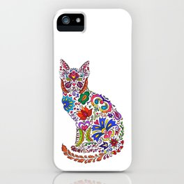 Flowery Kitty iPhone Case