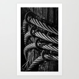 Twisted Cables Art Print