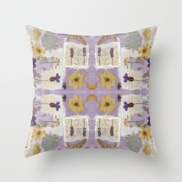 Lavender Collage Throw Pillow