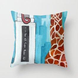 G for Giraffe - Alphabet City  Throw Pillow
