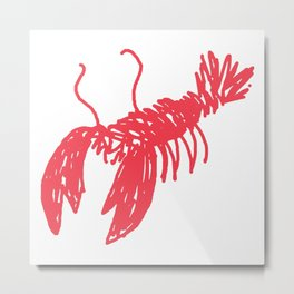 Red Lobster Metal Print