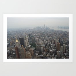 On top of The Empire State Building  Art Print