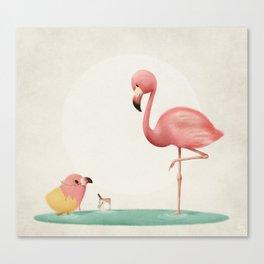 Little Flamingo Canvas Print