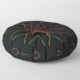 Clock Design in Tri Color Floor Pillow