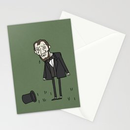 Sad Abe in a Field Stationery Cards