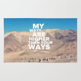 His Ways Are Higher - Isaiah 55:9 Rug
