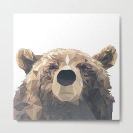 Geo Bear Metal Print