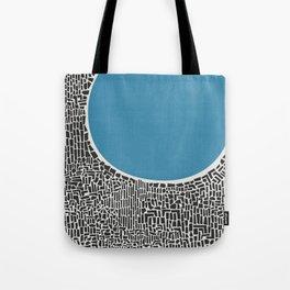Abstract Blue Lake Tote Bag