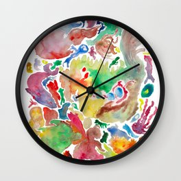 Abstract unconscious animals Wall Clock