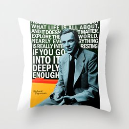 Richard Feynman Quote 1 Throw Pillow