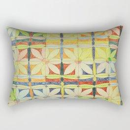 Dragonflies & Flowers Rectangular Pillow