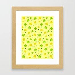 Whimsical Shamrock Framed Art Print