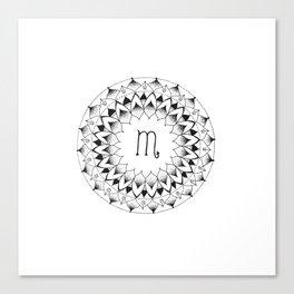 Scorpio Zodiac Mandala Canvas Print