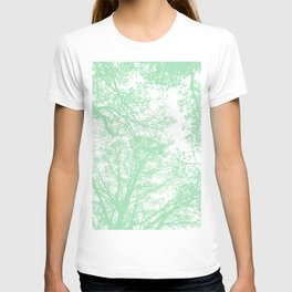 Mint abstract trees T-shirt