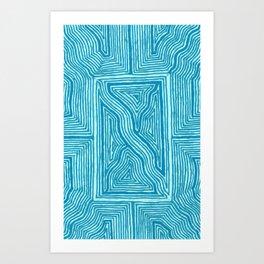 Turquoise Geo Art Print