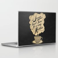 kitchen Laptop & iPad Skins featuring Some Hot Tea For My Hottie by Laura Graves