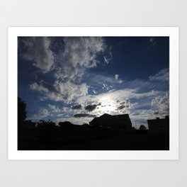 Sky in Downtown Maryville Art Print