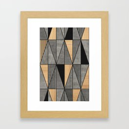 Concrete and Wood Triangles Framed Art Print