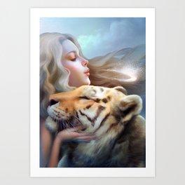 Angel of Tigers Art Print