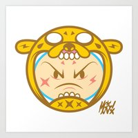 finn and jake Art Prints featuring Jake & Finn  by Miguel Manrique