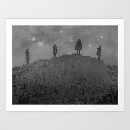 Walking the Giants Causeway Art Print