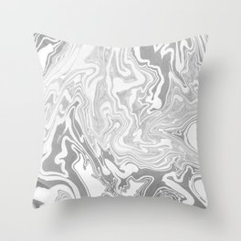 Smoky mirror Throw Pillow
