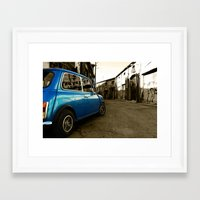 mini cooper Framed Art Prints featuring Mini Cooper  by Vasilis Kleanthous