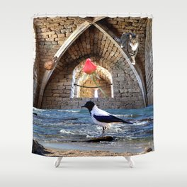 Guardians of the Rose Shower Curtain