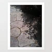 reflected rocks Art Print