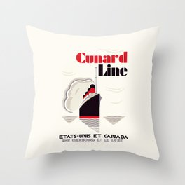 Cunard Line art deco style Throw Pillow