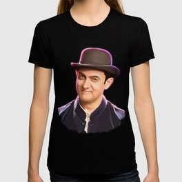 Aamir khan portrait Digital Panting T-shirt